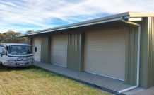Custom built shed with truck - Melbourne